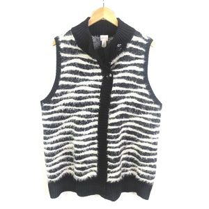 Chicos 3 Animal Print Fashion Vest Womens L